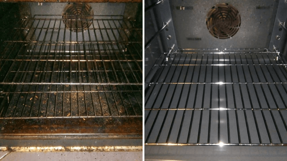 Before and After Oven cleaning by Diamond Oven cleaning in Glasgow